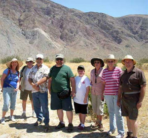 borrego rock and gem club members on field trip