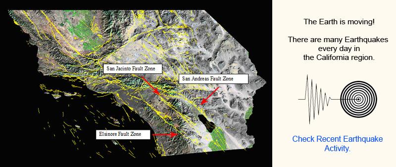 Earthquake Map Of Anza Borrego