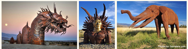 sculptures of Recardo Breceda in Borrego Springs